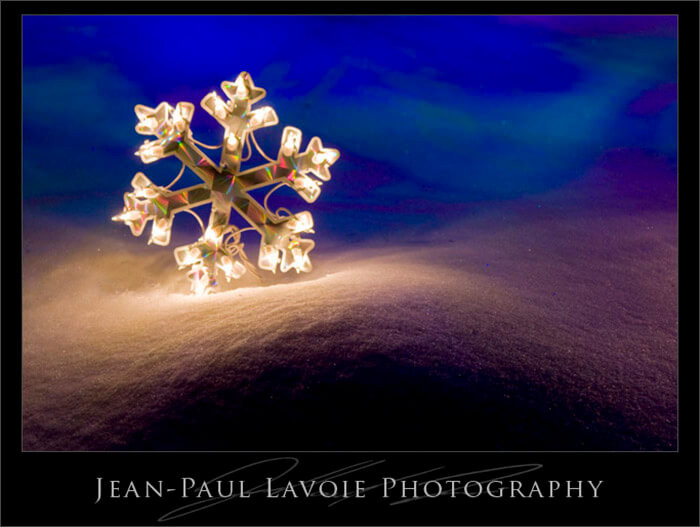 Snowy Gretna: Night lights